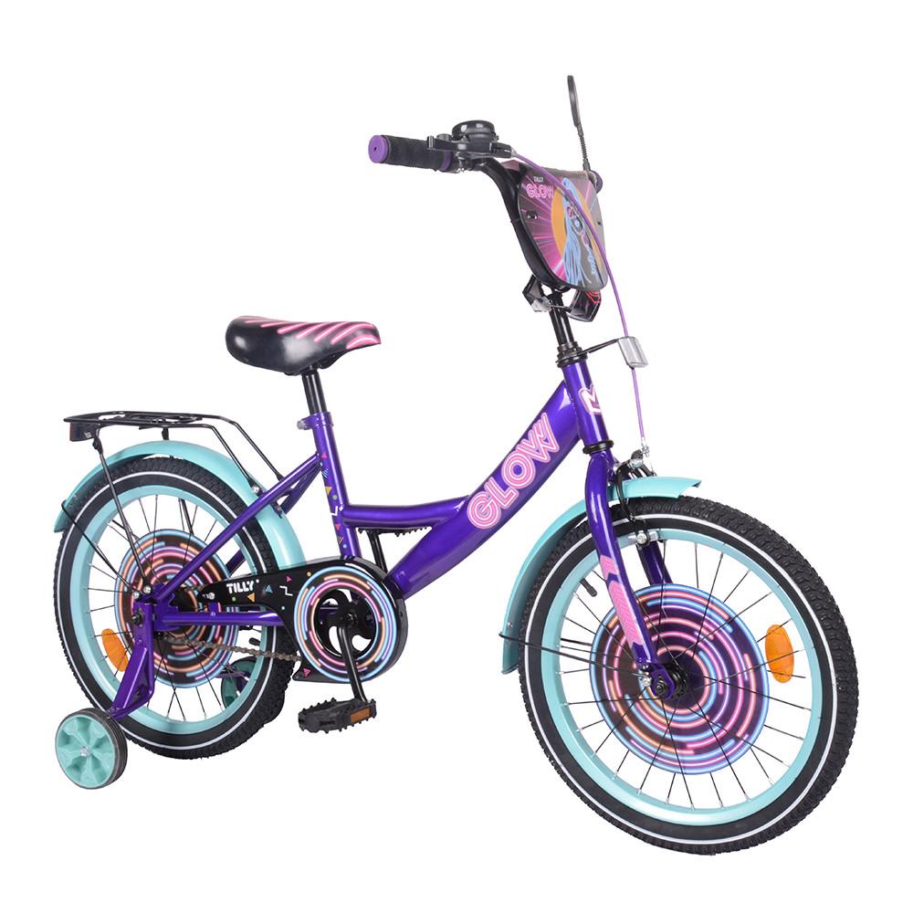 "Велосипед TILLY Glow 18"" T-218213/1 purple+azure /1/"