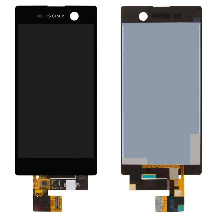 Дисплей (экран) для Sony E5603 Xperia M5 с сенсором (тачскрином) черный Оригинал
