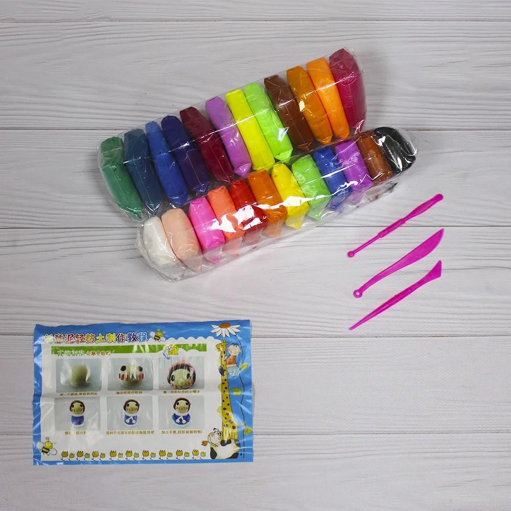 Легкий воздушный пластилин 24 ярких цвета В наличии