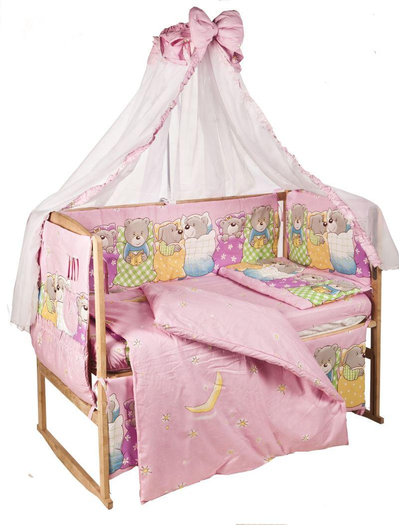 """Комплект детского постельного белья """"Звери спят"""", ткань хлопок"""