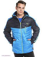 Куртка Puma Junior черно-голубая