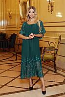 Женское вечернее шелковое платье с сеткой