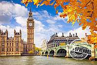 Раскраска по цифрам Идейка Осенний Лондон (KH2134) 40 х 50 см