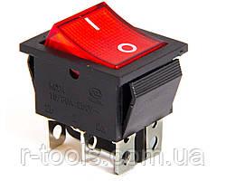 Выключатель для сварочного аппарата 25А 250V с 6-ю медными выходами и подсветкой VITA EZ-0006