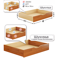 Ящик подкроватный для кроватей Дуэт и Нота