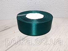"""Лента атласная 2.5см зеленая """"изумруд"""", цвета разные(1моток-23метра)"""