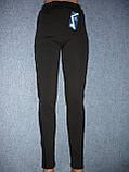 """Штаны женские """"Kenalin"""" на меху, с кожаной вставкой. Термо. р. XL/2XL, фото 2"""