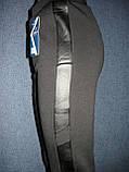 """Штаны женские """"Kenalin"""" на меху, с кожаной вставкой. Термо. р. XL/2XL, фото 5"""