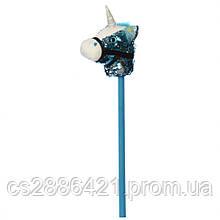 Лошадка на палке MP 2138 75 см (Голубой)