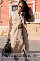 Пальто женское классическое на запах беж