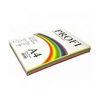 """Бумага для печати цветная """"Profi"""", набор 5 цветов по 20 листов, формат А4, Deep 82А Плотность 160г/м²."""
