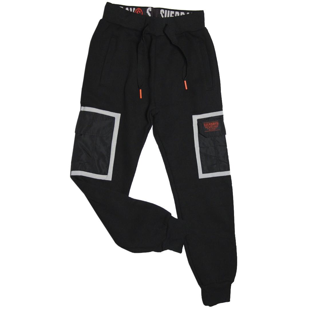 Стильные теплые спортивные штаны для мальчика 140 рост Венгрия черные