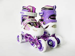 Детские ролики для начинающих размер 29-33 и 34-37 LikeStar фиолетовый цвет