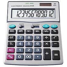 Калькулятор SDC-999L, двойное питание