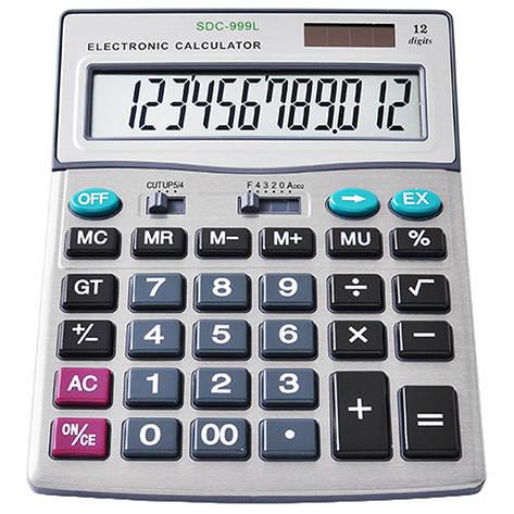 Калькулятор SDC-999L, двойное питание, фото 2
