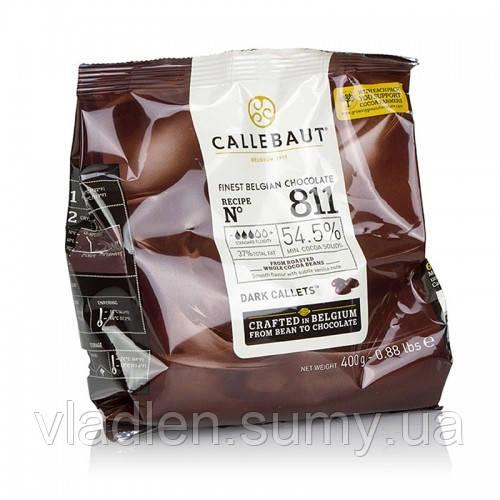 Темный шоколад 54,5% Callebaut №811 упаковка 400 г Barry Callebaut (Бельгия)