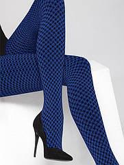 Колготи жіночі 50Den синього кольору з 3D ефектом. ТМ Gatta. Розмір: 2. 3. 4