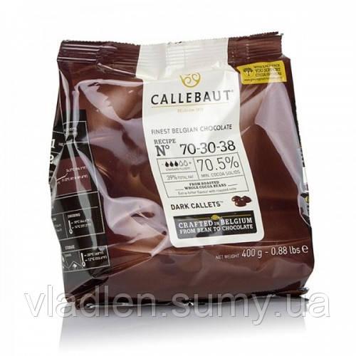 Темный шоколад 70.5% Callebaut №70-30-38 упаковка 400 г Barry Callebaut (Бельгия)