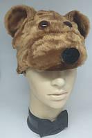 Шапочка Медведь бурый детская, шапка для костюма Медведя, Медвежонок, Мишка