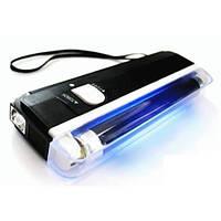 Портативный ультрафиолетовый детектор валют с уф лампой для проверки денег купюр карманный dl01 с фонарем
