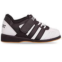Штангетки обувь для тяжелой атлетики Zelart PU OB-4594 (р-р 38-45) (верх-PU, подошва кожа, TPU, белый-черный)