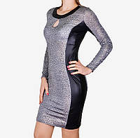 Стрейчевое платье со вставками (WZ1512) | 3 шт.