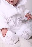 """Детский махровый костюм для новорожденных """"Белый мишка"""" размер от 74 до 86, фото 4"""