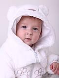 """Детский махровый костюм для новорожденных """"Белый мишка"""" размер от 74 до 86, фото 5"""