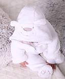 """Детский махровый костюм для новорожденных """"Белый мишка"""" размер от 74 до 86, фото 6"""
