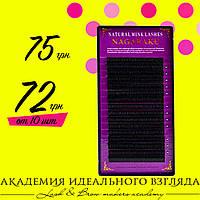Ресницы черные Нагараку Nagaraku один размер 16 линий