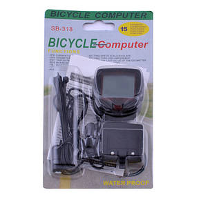 Велокомпьютер SB-318/2016, 15 функций, фото 2