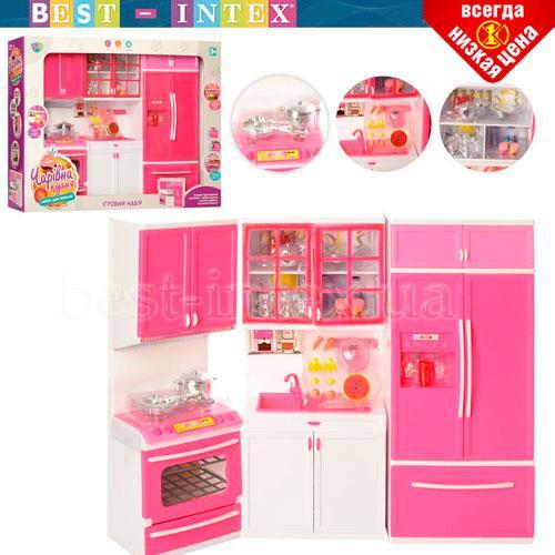 Игровой набор QF26210PW Современная кухня со звуком и светом Розовая