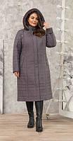 Пальто женское зимнее П-73з серое