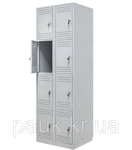 """Металлический шкаф на 8 отделений """"Ристел 8"""""""