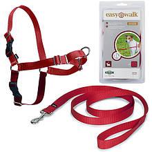 Шлея-антирывок для собак Легкая прогулка Premier Easy Walk размер S красный