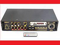 Усилитель звука UKC / Max AV-102BT Bluetooth USB + КАРАОКЕ 2микрофона
