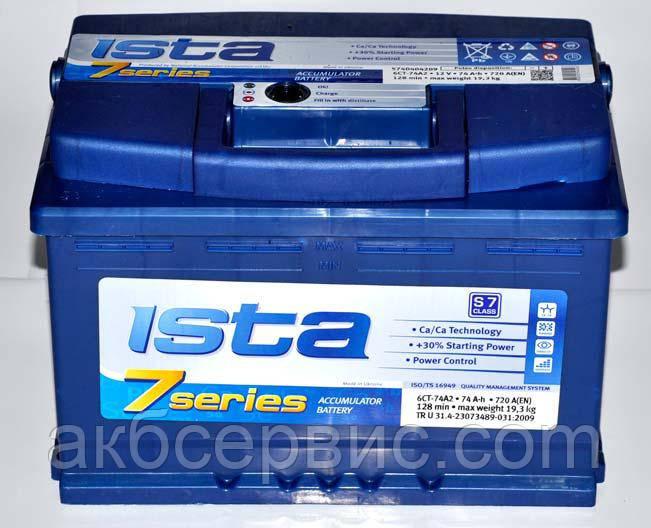 Аккумулятор автомобильный Ista 6СТ-77 АзE 7 Series