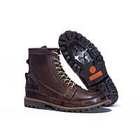 Ботинки мужскиеTimberland Rugged High Brown (тимберленд) коричневые, фото 1