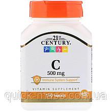Витамин С 21st Century Vitamin C 500 мг, 110 таблеток