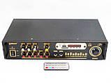 Усилитель звука Max AV-102BT Bluetooth USB + КАРАОКЕ 2микрофона, фото 4