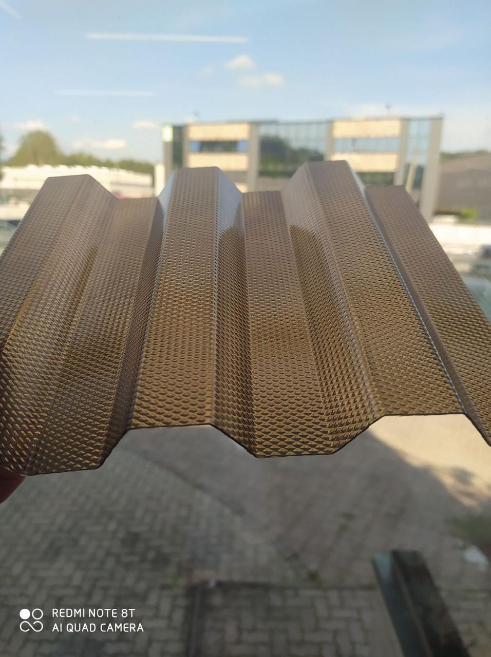 Поликарбонат профилированный TOPLIGHT GR 76/18 UV2 0.9мм бронза микропризмы 1,045х6м