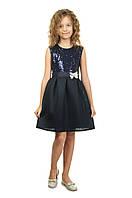 Нарядное платье для девочки с паетками и пышной юбкой на 5-10 лет
