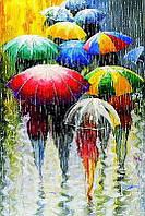 Алмазная вышивка мозаика Чарівний діамант Дождь саксофонист КДИ-0489 40х60см 30цветов квадратные полная