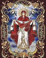 Алмазная вышивка мозаика Чарівний діамант икона Покрова Пресвятой Богородицы КДИ-0239 40х50см 25цветов