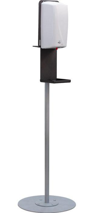 Сенсорный дозатор стойка антисептического средства на стойке  ГС-11 для фитнес залов, для отелей, для кабинета