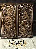 Нарди дерев'яні ручної роботи, незвичайний подарунок, фото 1