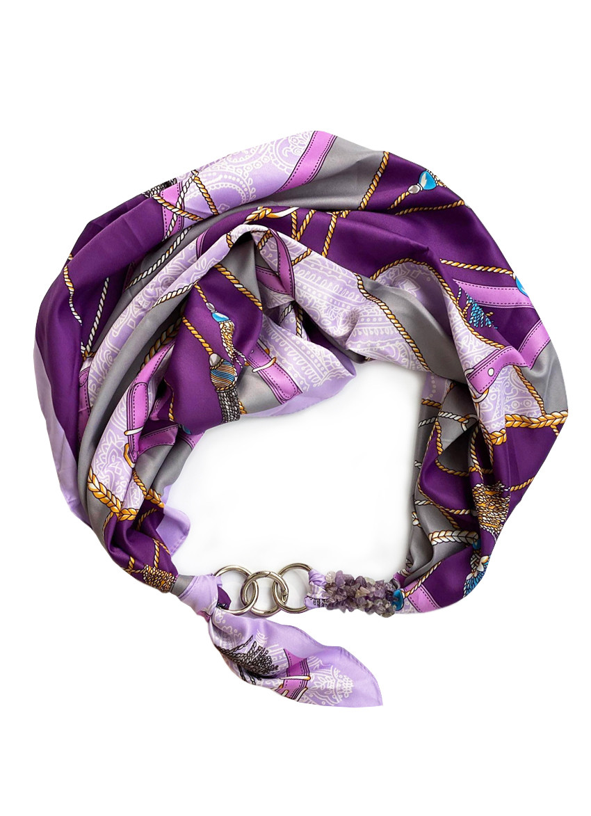 """Шелковый платок my scar """"Вечерний Париж"""" шейный платок, подарок женщине"""