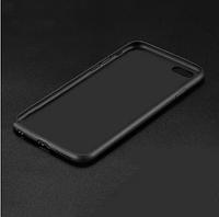 Силиконовый чехол матовый iPhone 6/6s black