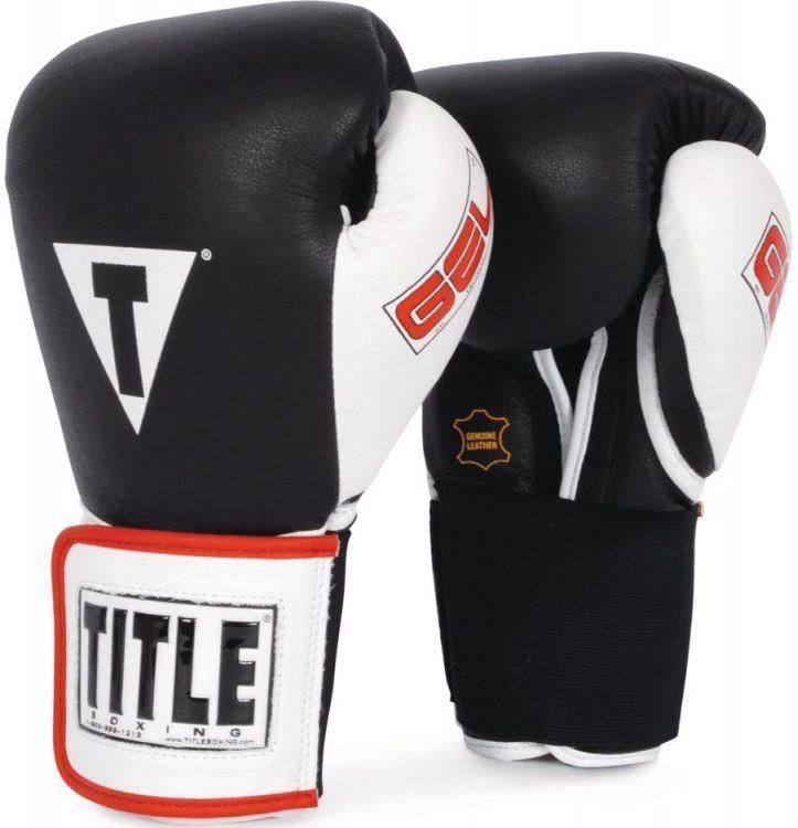 Боксерские перчатки Title Gel World Elastic Training Gloves (черные)