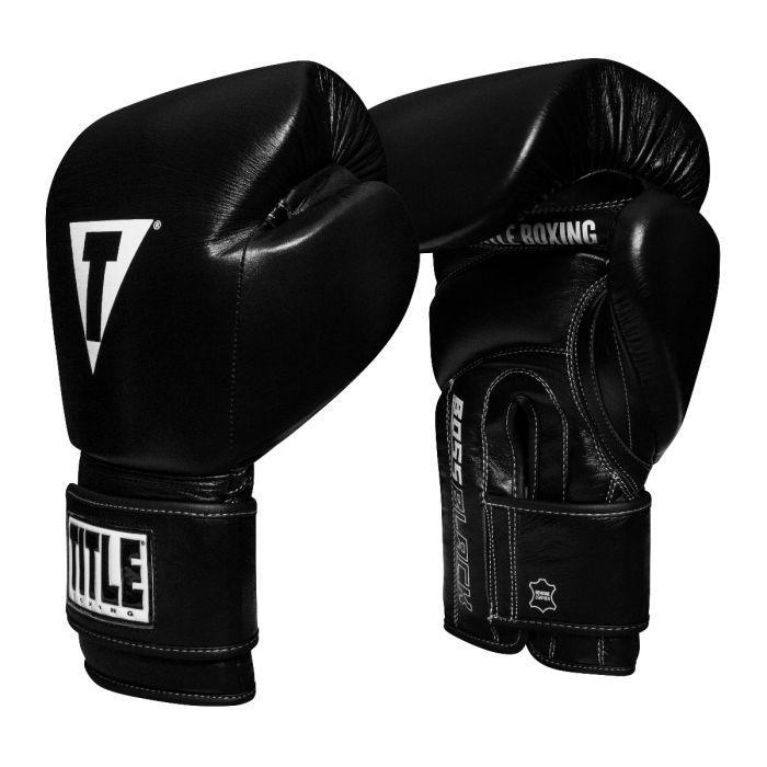 Боксерские перчатки Title Boss Black Leather Bag Gloves 2.0 (черные)